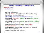 object definition language odl