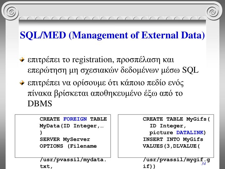SQL/MED (Management of External Data)