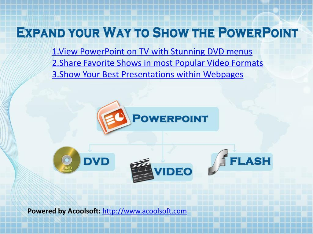 1.View PowerPoint on TV with Stunning DVD menus