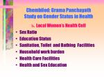 chembilod grama panchayath study on gender status in health