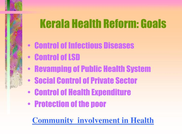 Kerala Health Reform: Goals