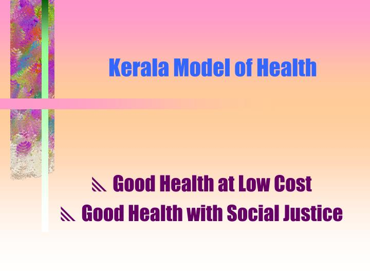 Kerala Model of Health
