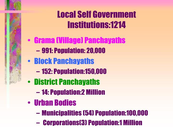 Local self government institutions 1214