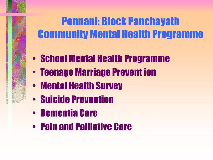 Ponnani: Block Panchayath