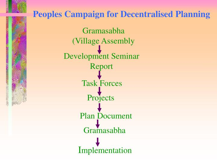 Peoples Campaign for Decentralised Planning