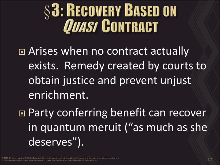 Essay on Quasi Contract (1046 Words)
