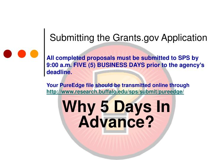Submitting the grants gov application