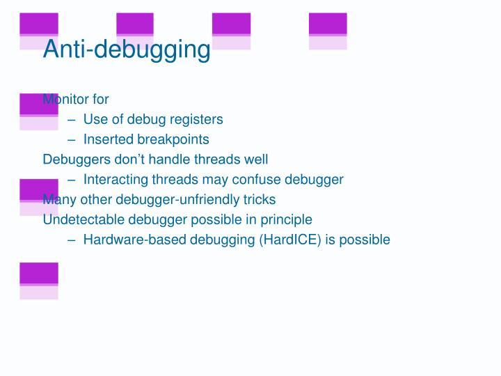 Anti-debugging