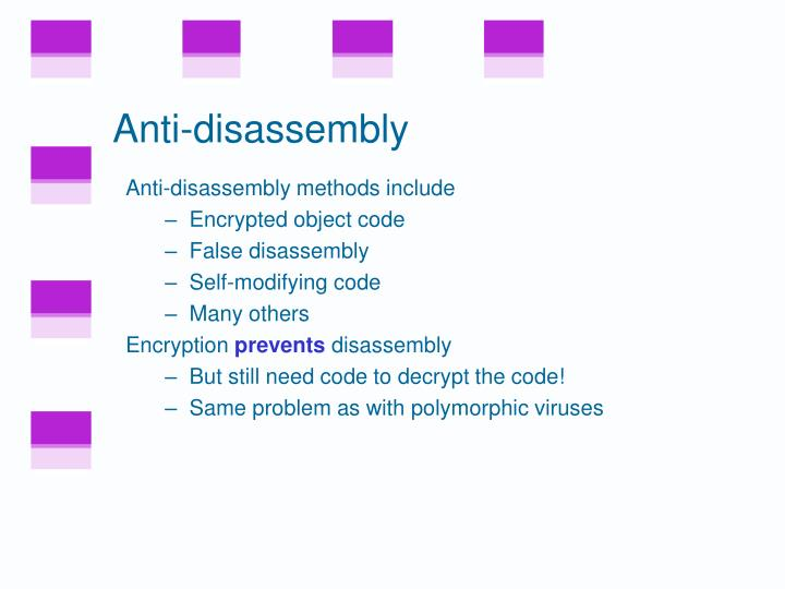 Anti-disassembly