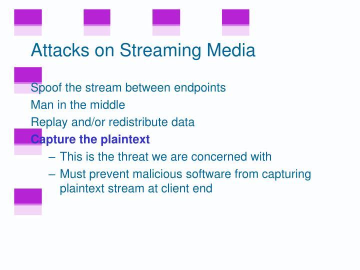 Attacks on Streaming Media
