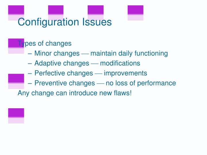 Configuration Issues