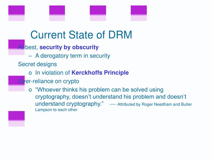 Current State of DRM