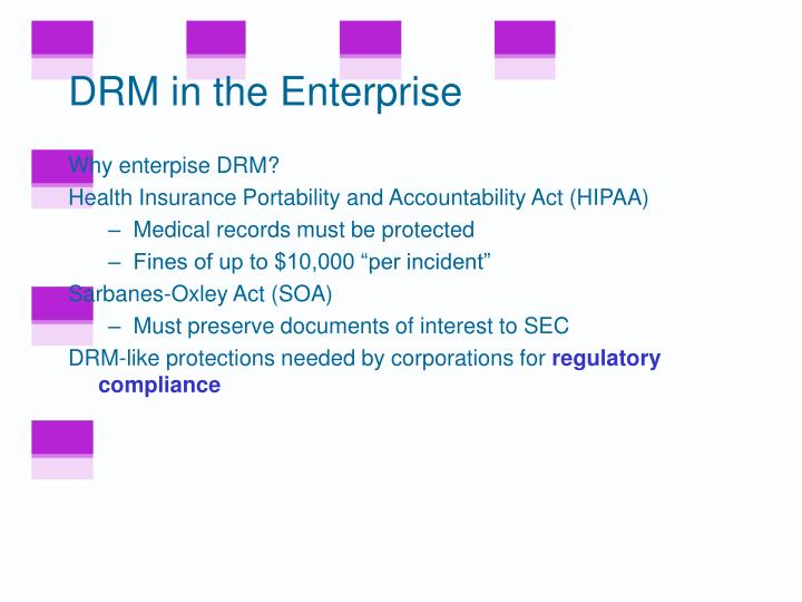 DRM in the Enterprise