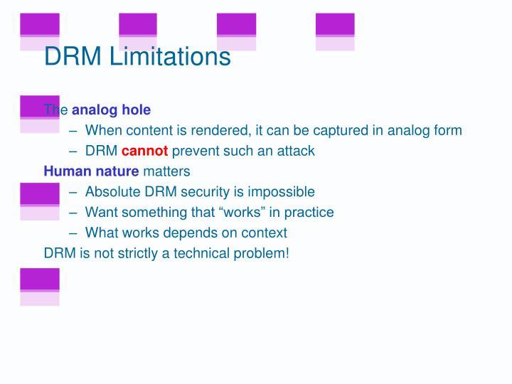 DRM Limitations