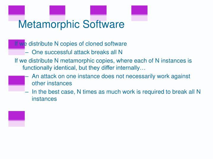 Metamorphic Software