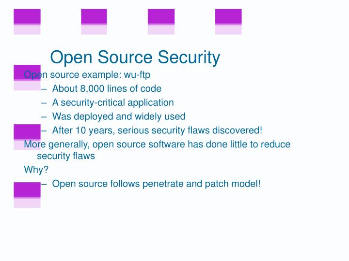 Open Source Security