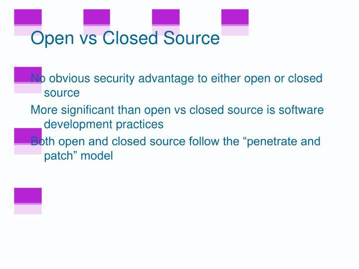 Open vs Closed Source