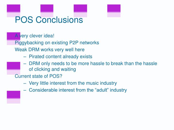 POS Conclusions