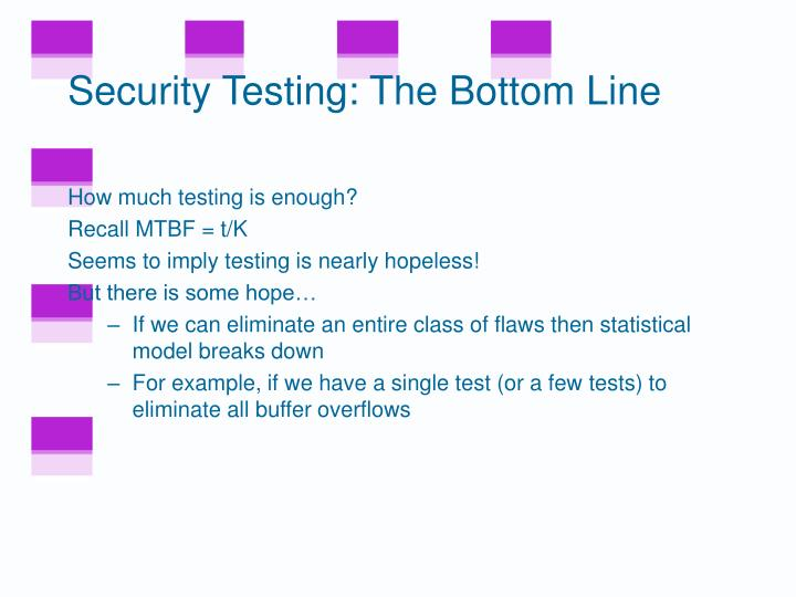 Security Testing: The Bottom Line