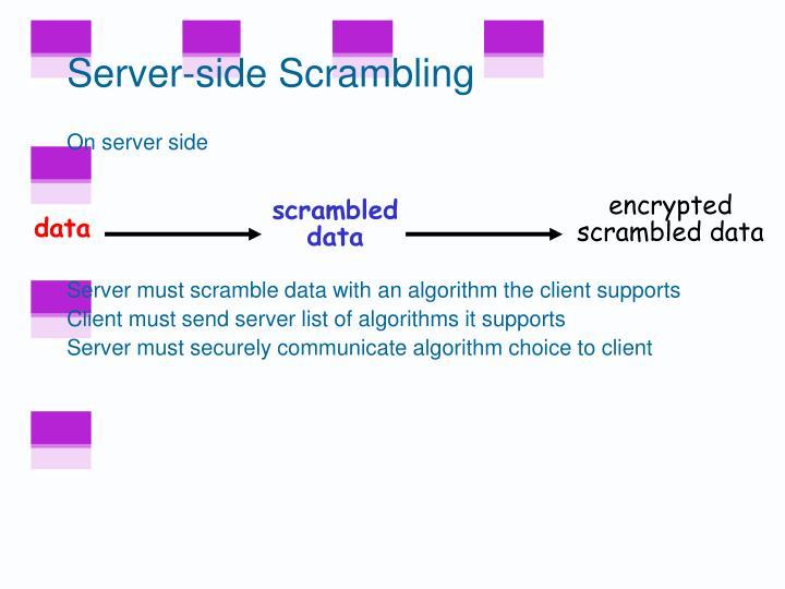 Server-side Scrambling