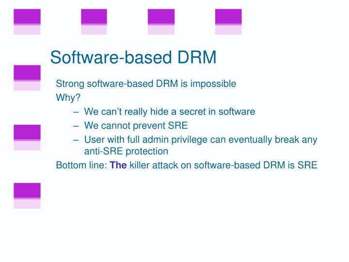 Software-based DRM