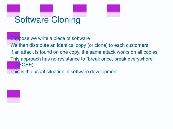 Software Cloning