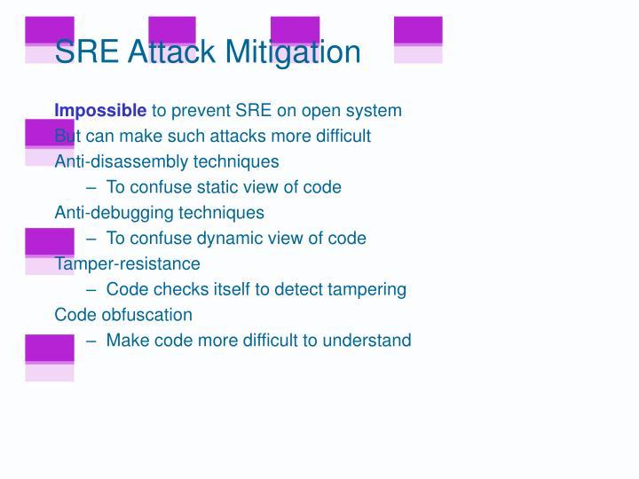 SRE Attack Mitigation
