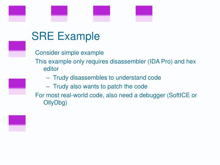 SRE Example