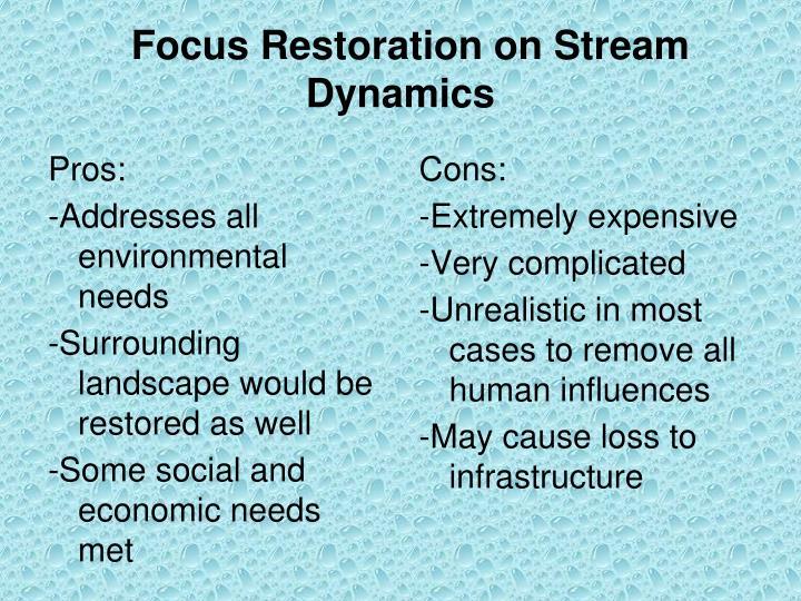 Focus Restoration on Stream Dynamics