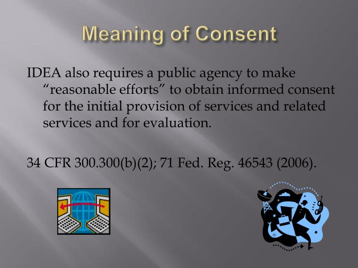 Meaning of Consent
