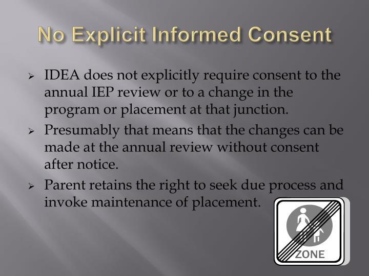 No Explicit Informed Consent