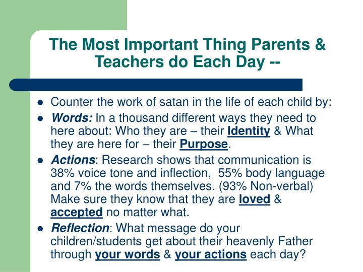 The Most Important Thing Parents & Teachers do Each Day --
