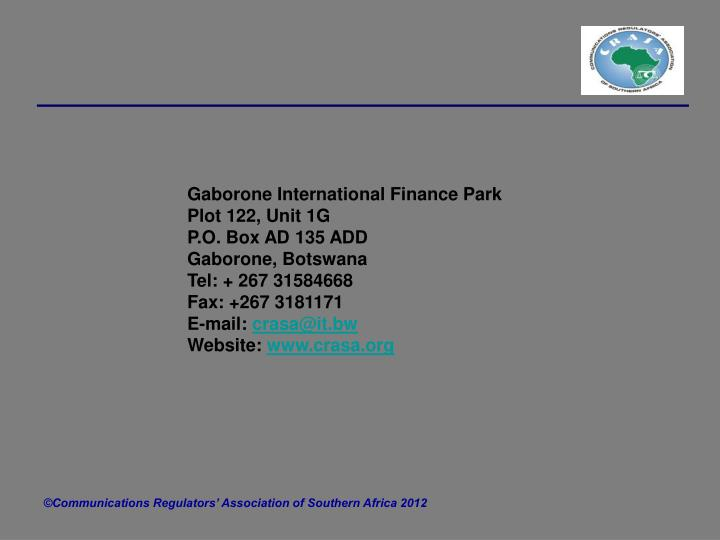 Gaborone International Finance Park