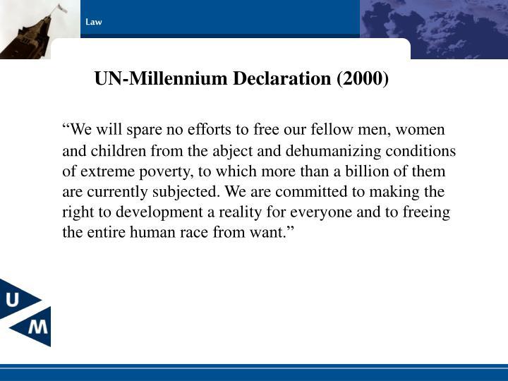 UN-Millennium Declaration (2000)