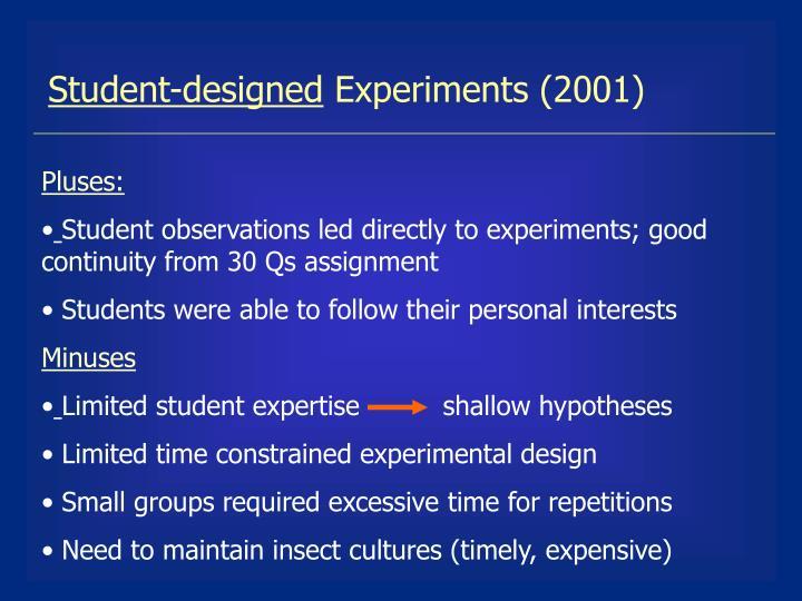 Student-designed