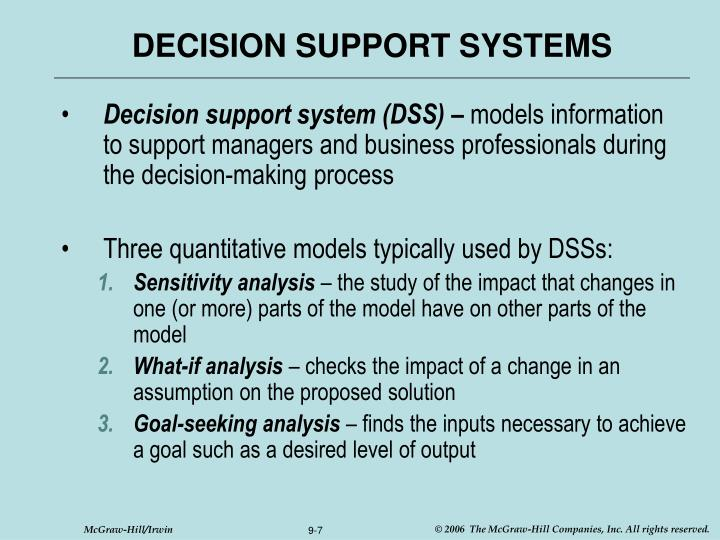 decision support system case study with solution Article will demonstrate a decision making support system case study, modelling (data flow case study: an information system management model.
