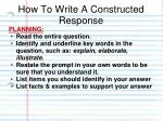 how to write a constructed response