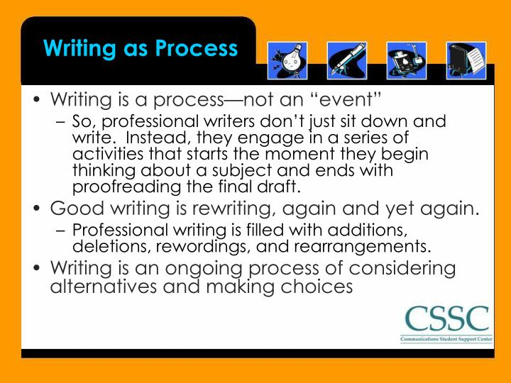 Writing as process
