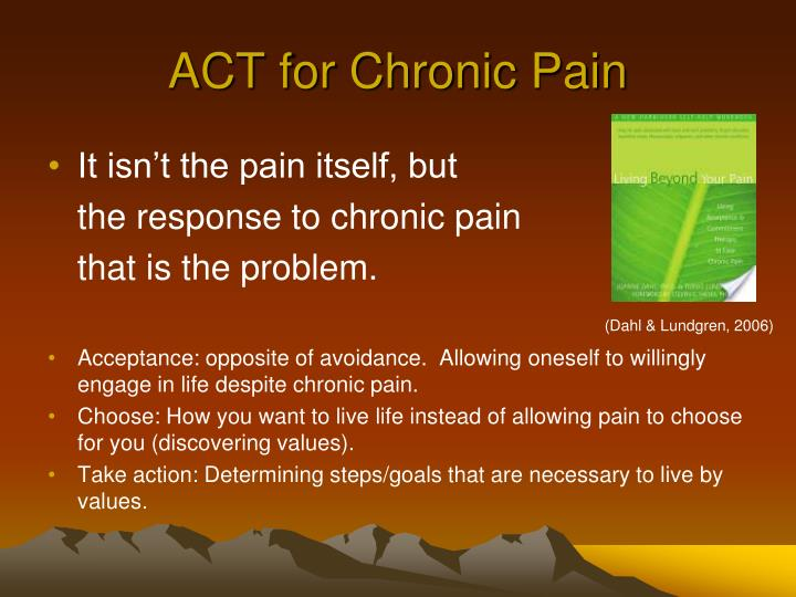 ACT for Chronic Pain