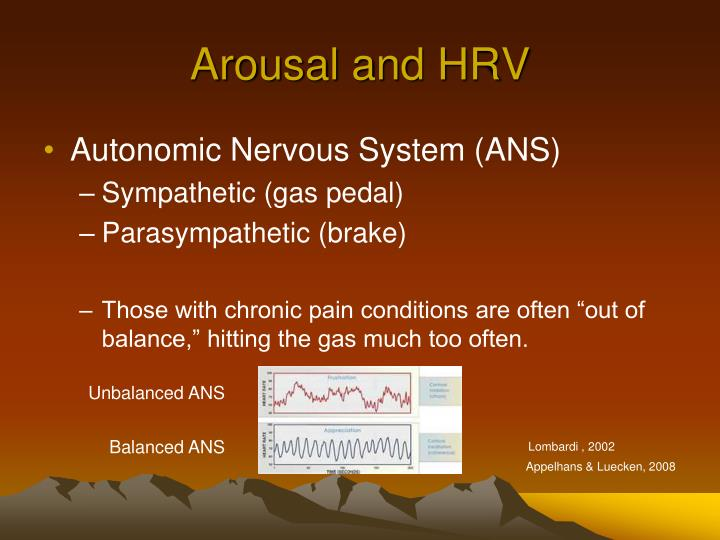 Arousal and HRV