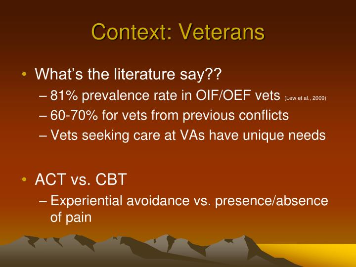 Context: Veterans