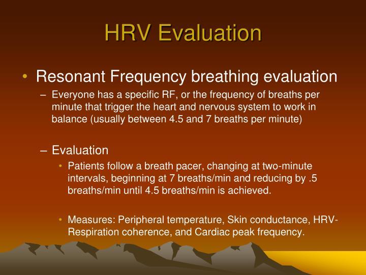 HRV Evaluation