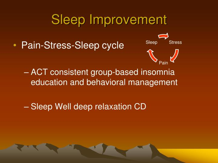 Sleep Improvement