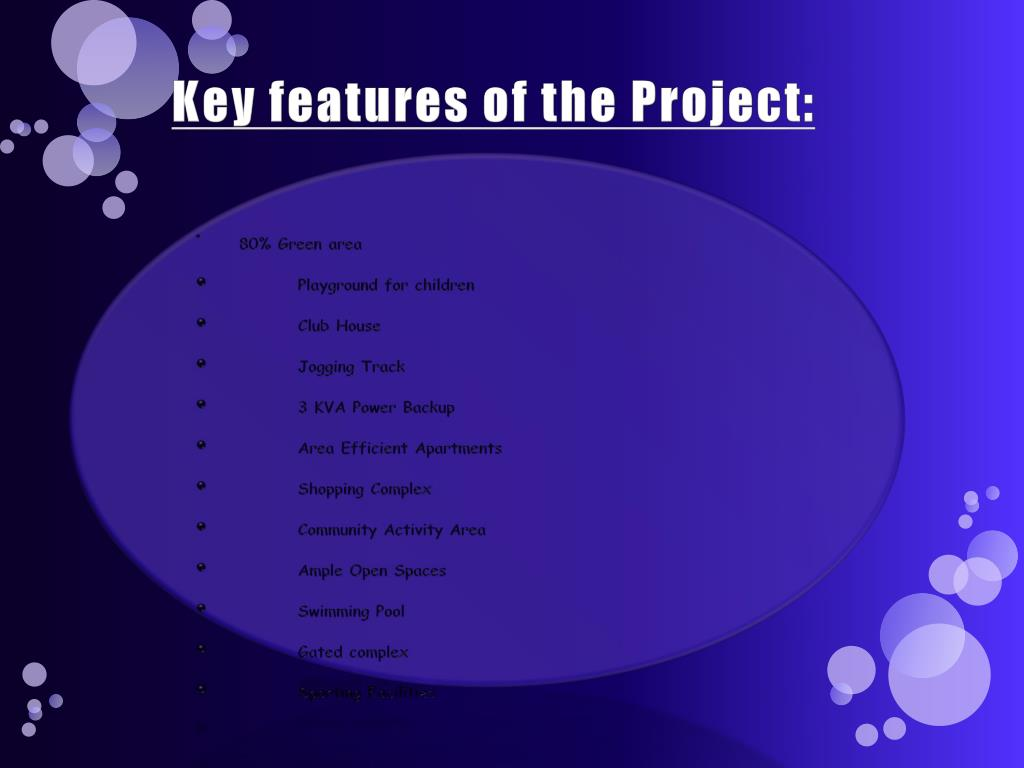 Key features of the Project: