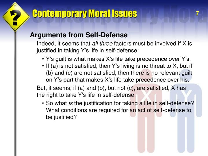 Arguments from Self-Defense