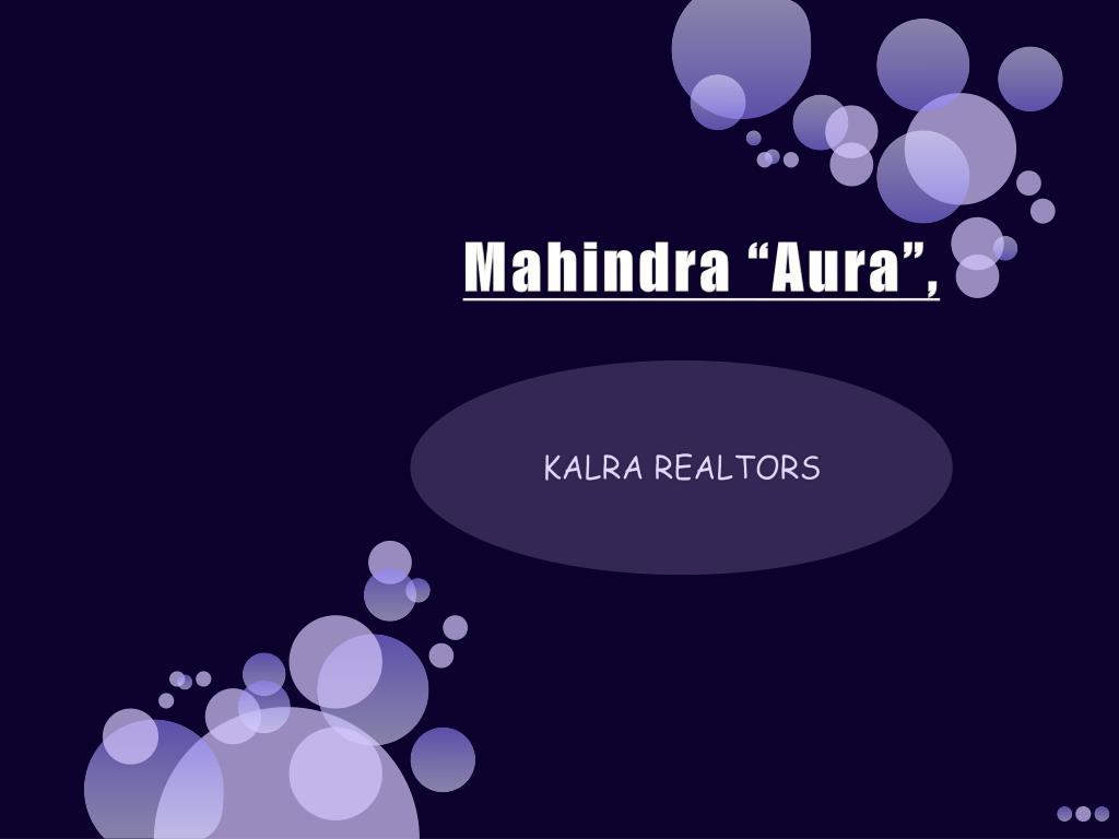 """Mahindra """"Aura"""","""