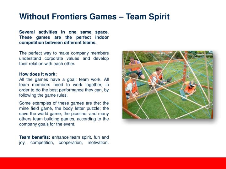Without Frontiers Games – Team Spirit
