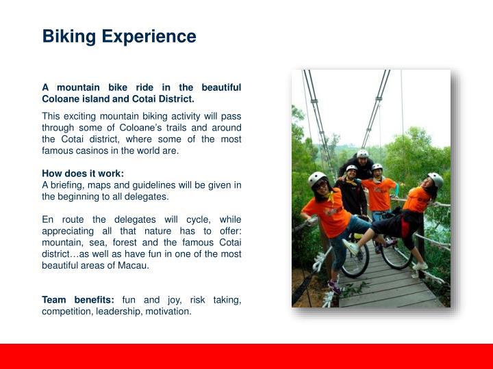 Biking Experience