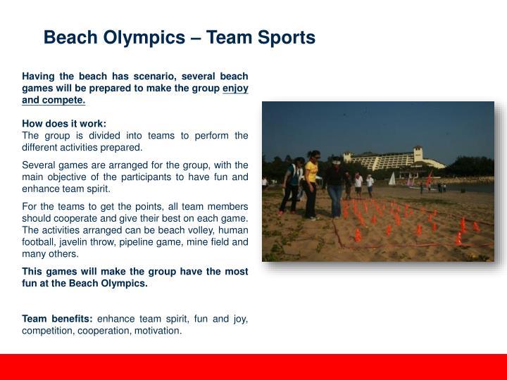 Beach Olympics – Team Sports