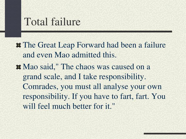 Total failure
